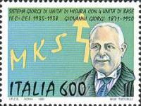 Un francobollo dedicato a Giorgi e al suo sistema