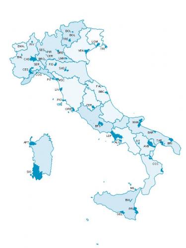 Mappa delle zone avvelenate in italia