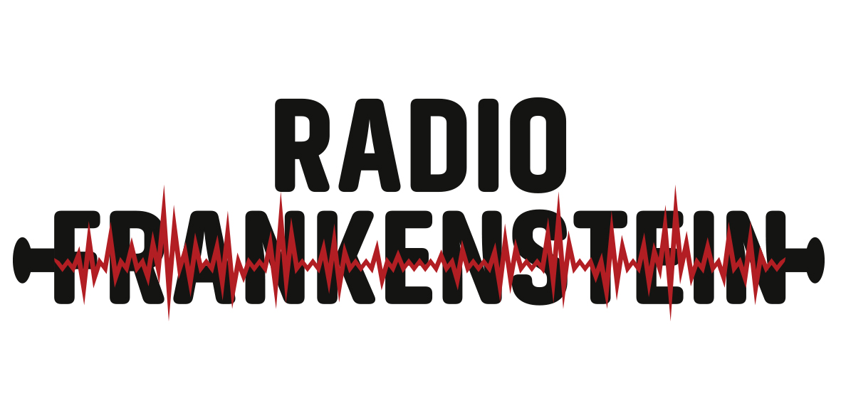 Il logo dello spettacolo 'Radio Frankenstein' ideato e realizzato dalla Markus Zohner Arts Company di Lugano in collaborazione con il Joint Research Centre della Commissione europea a Ispra Varese). Credit: Markus Zohner Arts Company.