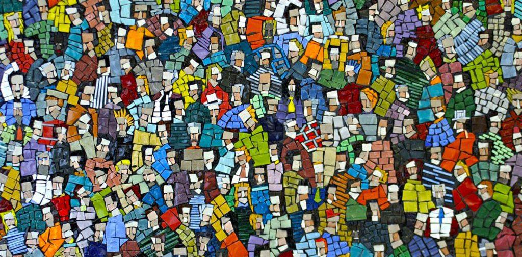 FOLLA 01, mosaico di Luca Barberini 2011). Private collection, cm 40 x 90.