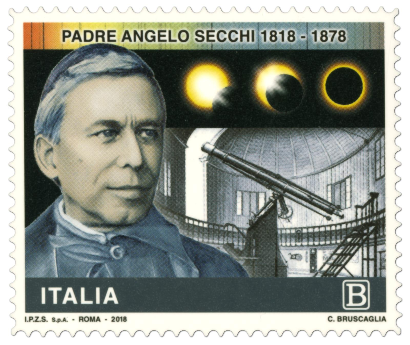 Francobollo commemorativo dedicato ad Angelo Secchi