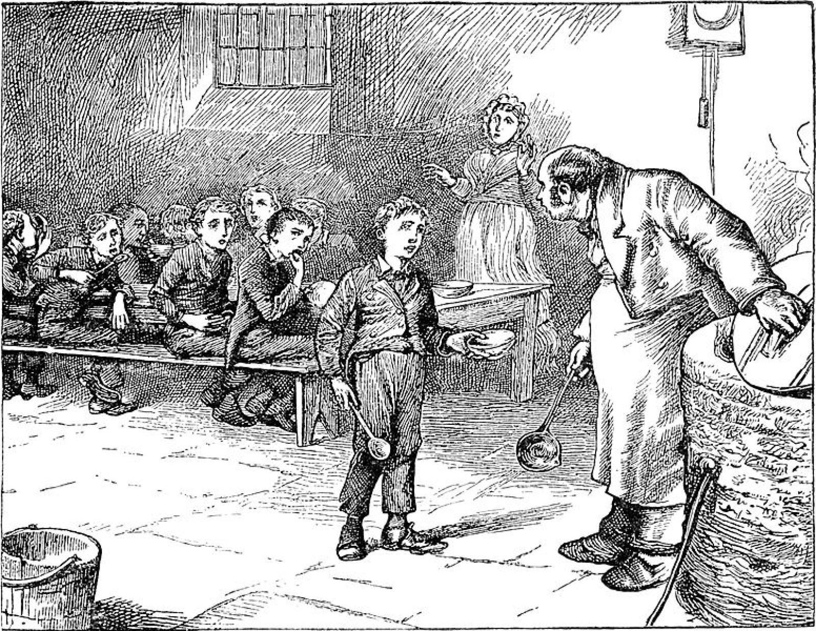 """Illustrazione dall'edizione originale di """"Oliver Twist"""""""