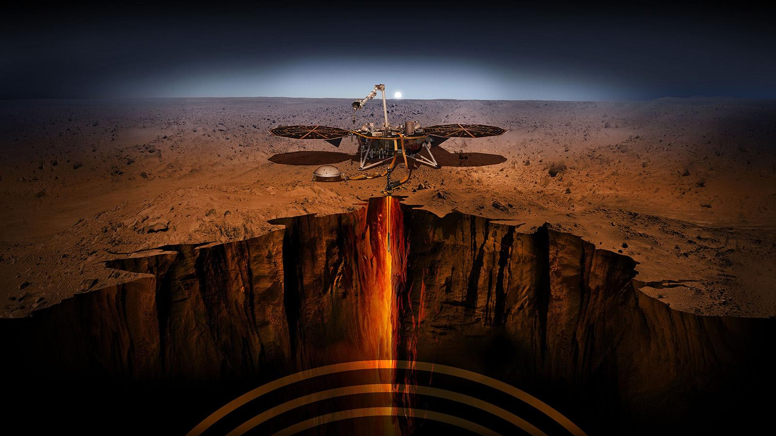 InSight sulla superficie di Marte