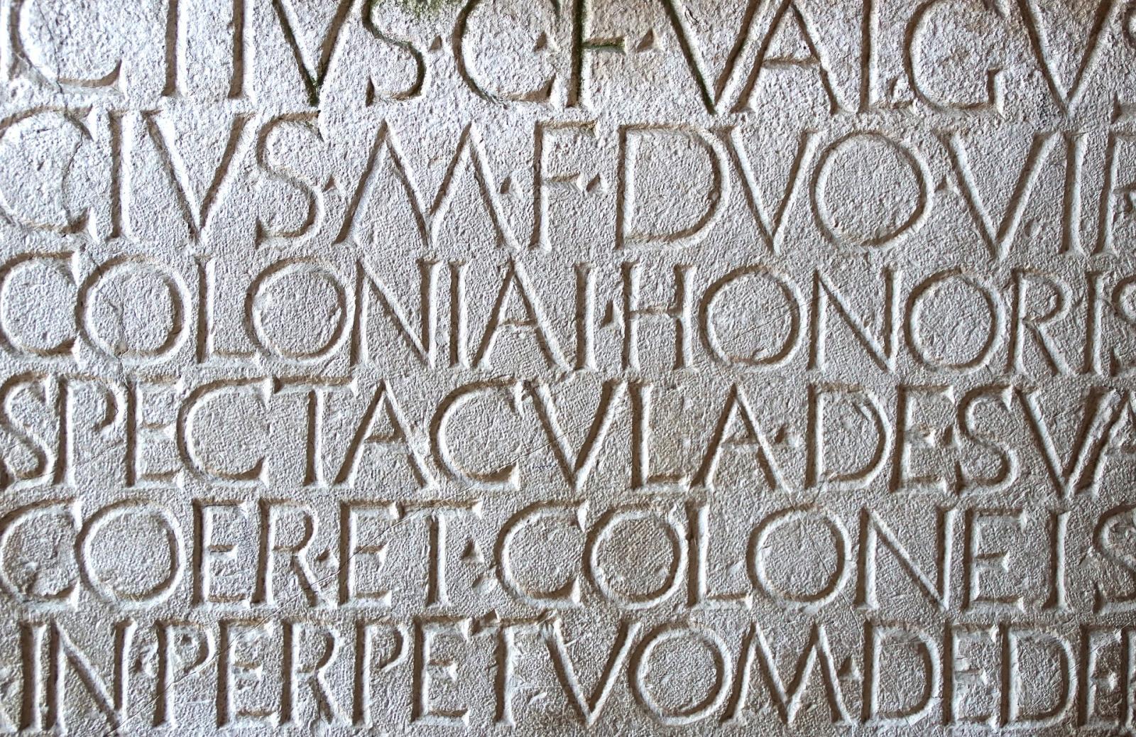 Iscrizione in latino