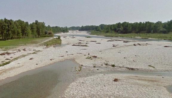 Piave River in Cimadolmo (Treviso)