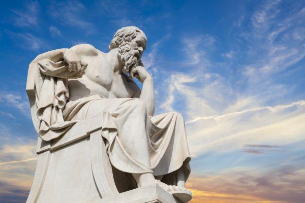 Statua di Socrate.