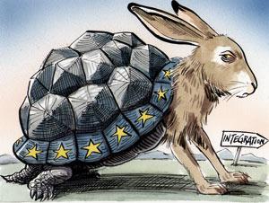 Europa a due velocità. Credit: The Economist.