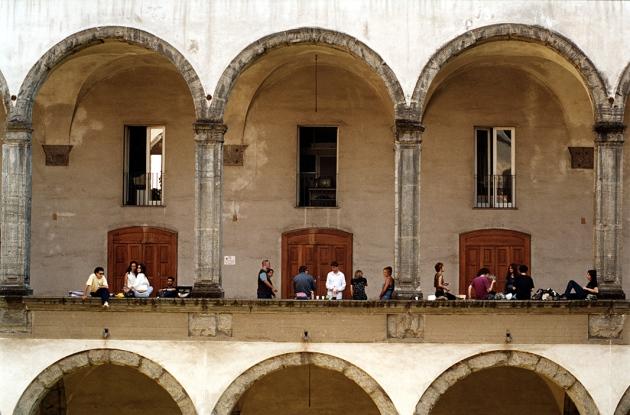 L'università di Napoli. Credit: Roberto Caccuri/Contrasto/eyevine.