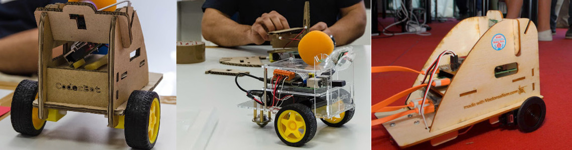 La costruzione di Coderbot, il robot programmabile orientato alla didattica.