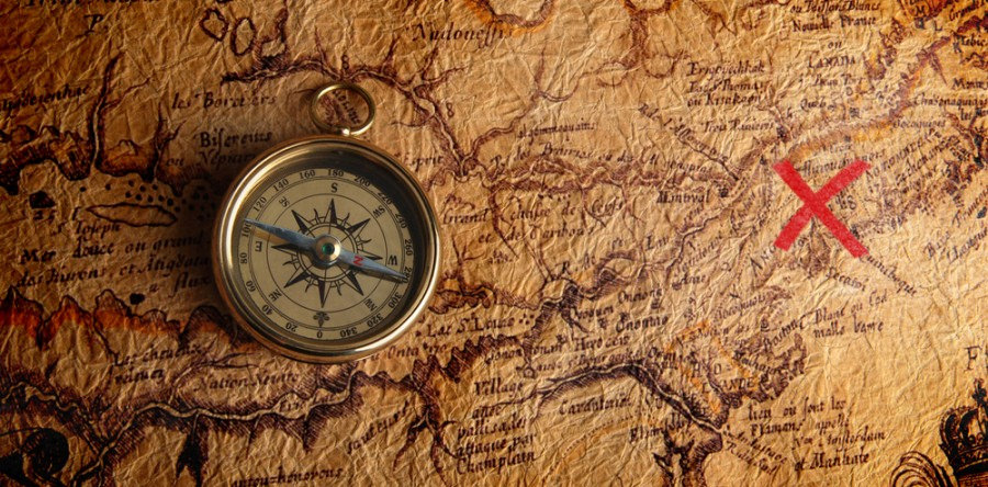 Treasure map. Credit: Steven Johnson /               Flickr. Licenza: Public Domain.