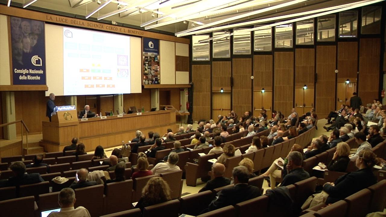 Un momento del convegno organizzato dal Gruppo 2003 'La ricerca scientifica: un valore per il Paese', che si è tenuto presso la sede del CNR di Roma il 10 maggio scorso.