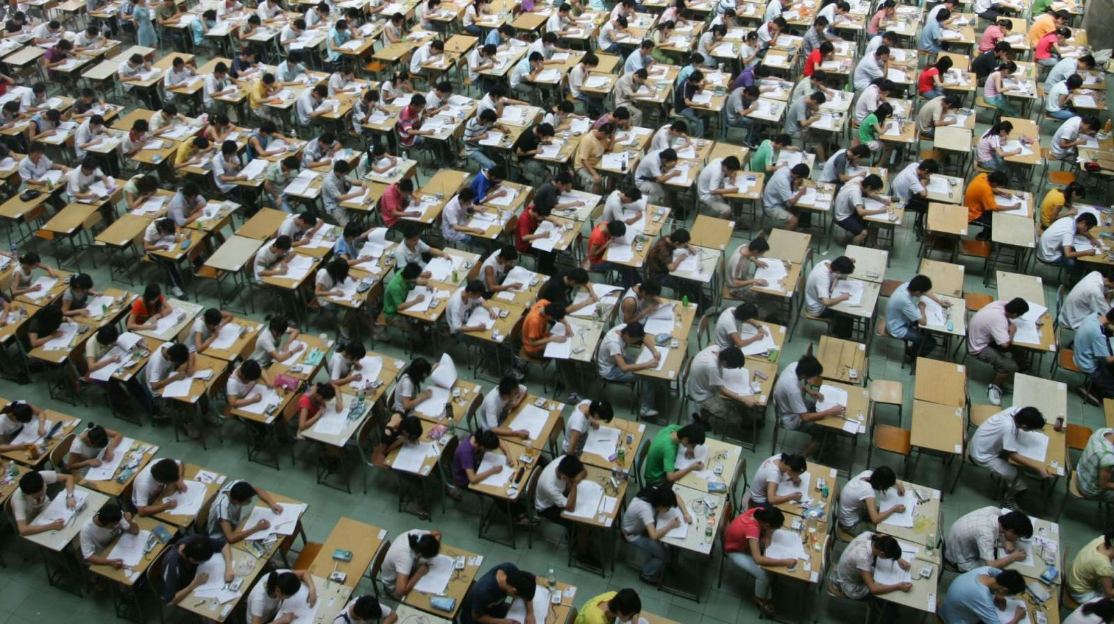 Immagine del gaokao, l'esame di ingresso all'università in Cina.