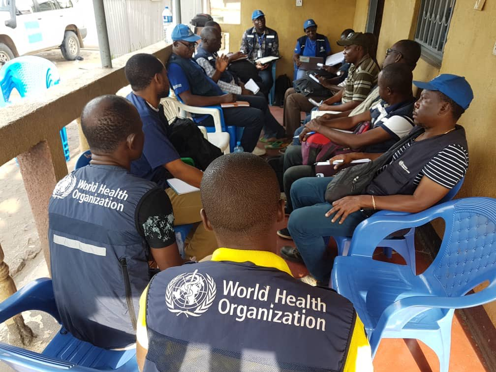 Operatori sanitari ne&ogravella               provincia nordorientale del North Kivu, nella Repubblica               Democratica delCongo. Credit: WHO / Tedros Adhanom               Ghebreyesus / Twitter.