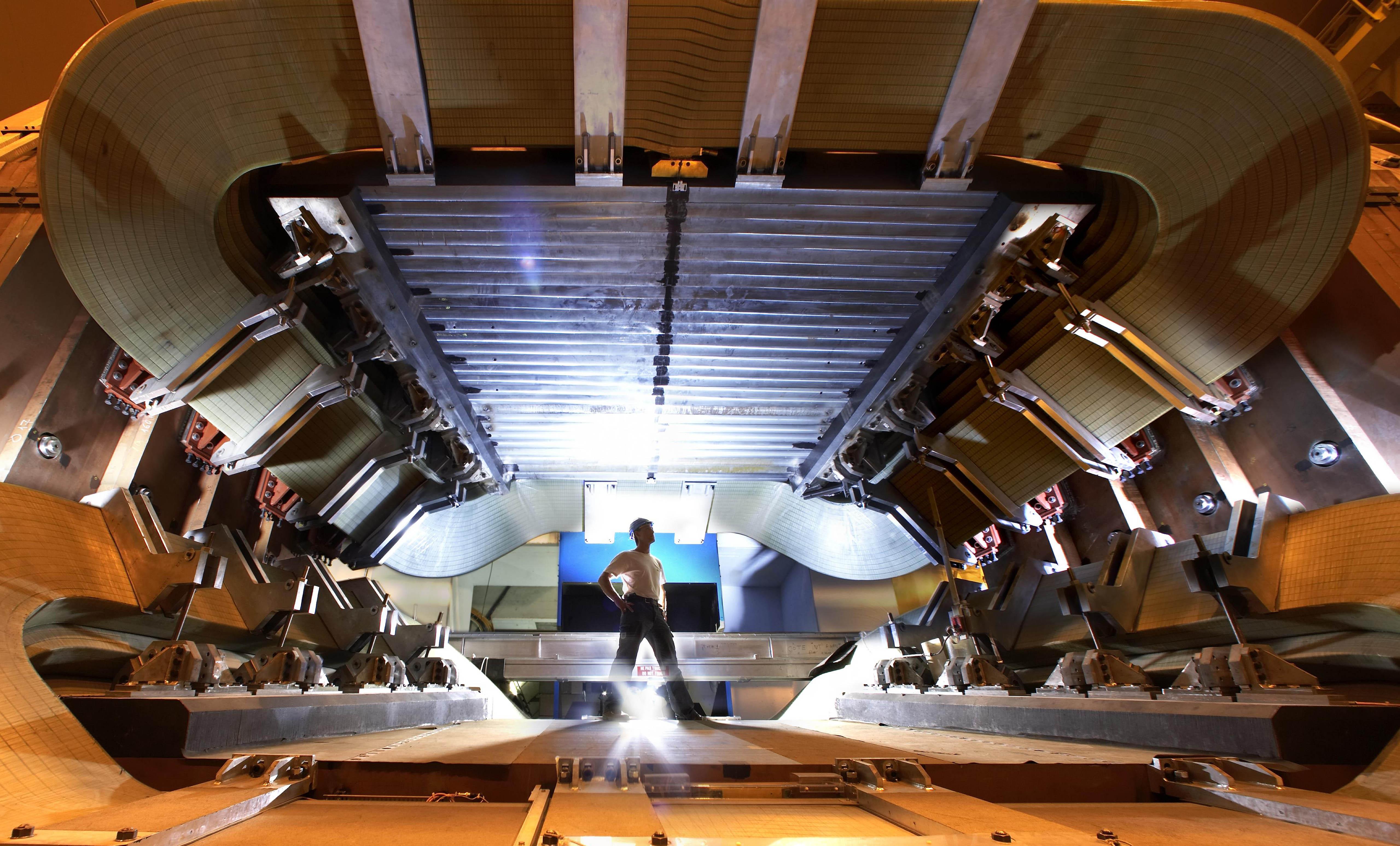 Un'immagine dell'esperimento LHCb il 5               settembre 2008. Credit: CERN / Peter Ginter.